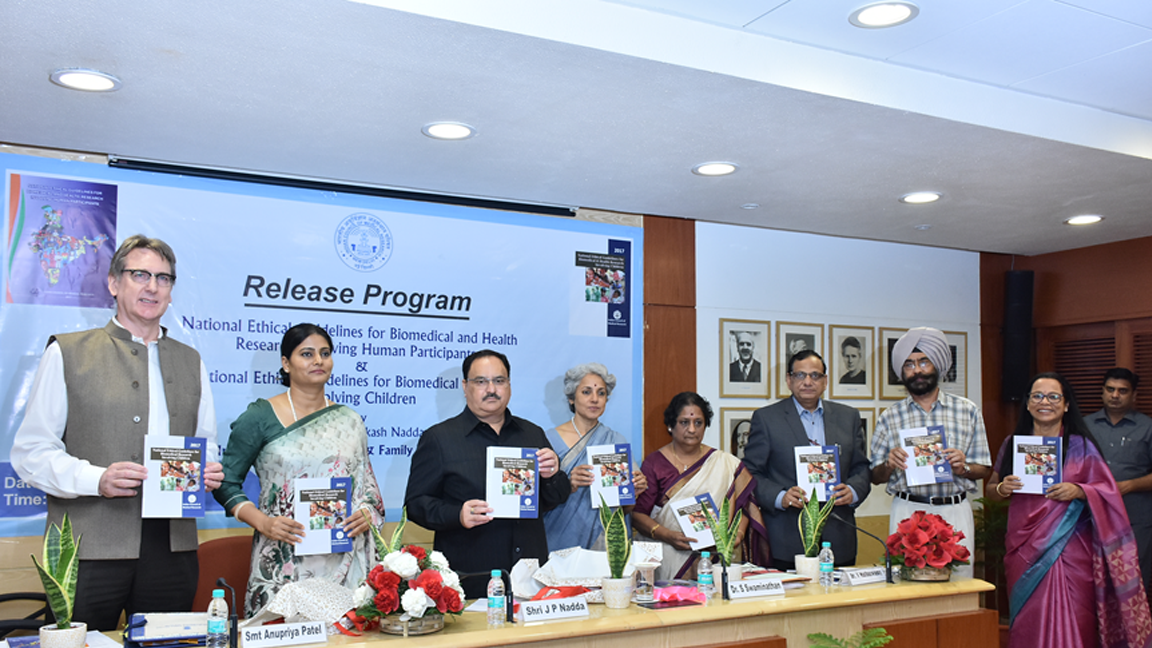 Release of ICMR National Ethical Guidelines for Biomedical Research Involving Children, 2017